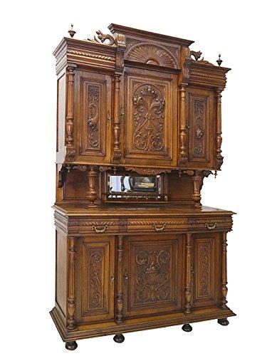 Buffet Küchenschrank Buffetschrank Antik Gründerzeit um 1880 Eiche massiv (4220)