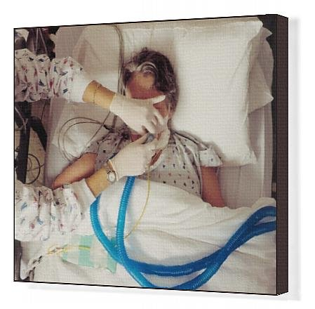 Canvas Print of Disconnecting Ventilator Removing Life Support