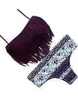 SUNNOW® Hot Nouveau Bikini Tassel Fringe Set Maillot de bain rembourré Trikini - 2 pièces Expédié par Amazon