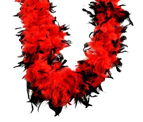 Touch of Nature Chandelle Boa 70Gramm Schwarz Tipps, rot, Regular (Und Feder-boa Schwarzen Roten)