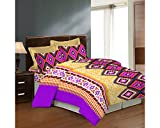 Bombay Dyeing Cealina Printed Double Bed Sheet Set (DSN-03) (Orchid)