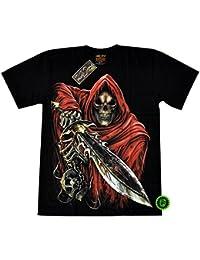"""T-Shirt Rock Chang """"Glow in the dark"""" Chang Heavy Metal Biker Tattoo Rocker Gothic (4023)"""