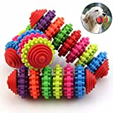 #4: Pets Empire Pet Toys Grear Ball Colorful Rubber Pet Dog Puppy Dental Teething Healthy Teeth Gums Chew Toys Too(1 Piece)
