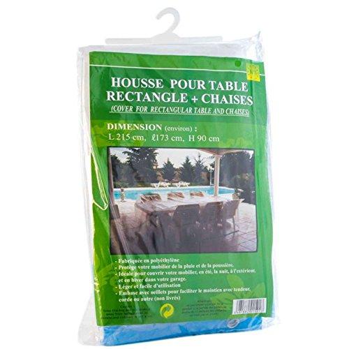 Provence Outillage 03145 Housse pour Salon de Jardin Rectangulaire Vert