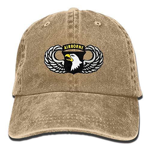 FGHJKL Vintage 101th Airborne Insignia Unisex Trucker Hats Dad Baseball Hats Driver Cap -