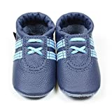 Babyschuhe, Krabbelschuhe, Hausschuhe, Handmade, * Sneaker in blau-hellblau-neues Modell. *