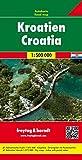 Kroatien, Autokarte 1:500.000, freytag & berndt Auto + Freizeitkarten