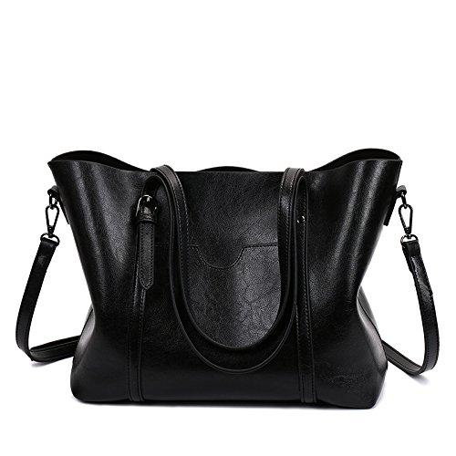 Preisvergleich Produktbild SJMMBB Damen Handtasche's New Fashion Frauen Beutel, schwarz, 40 X 27 X 11 CM