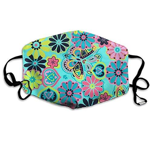 Nicegift Botanischer Garten Aqua Print Gesichtsmasken Atmungsaktiv Staubfilter Masken Mundschutz Masken Elastische Ohrschlaufe