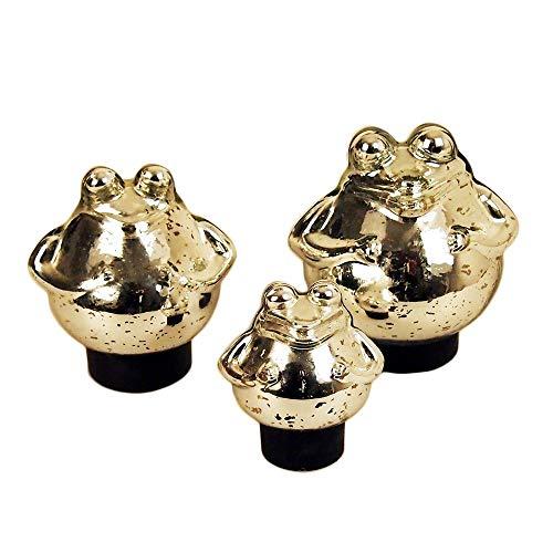 Bollweg Schwimm-Frosch klein Maße 9cm x 10cm in Silber/glänzend aus Glas