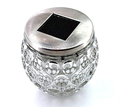 LED Solar Tischleuchte Glasleuchte Tischdekoration Partybeleuchtung Ø 9,5 cm 1 Stück (1 Tischleuchte)