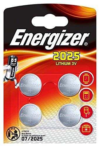Energizer CR2025 piles bouton au lithium 3 V batterie - (lot de 4)