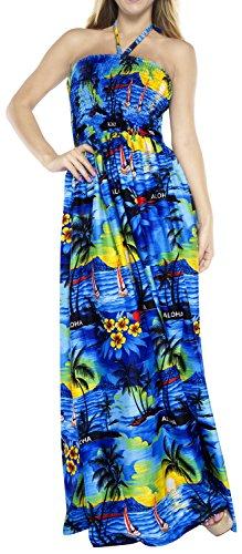 La Leela Beachwear Cover up Tube Top Women Maxi Dress Halter Neck Skirt One-Piece Dresses Ladies