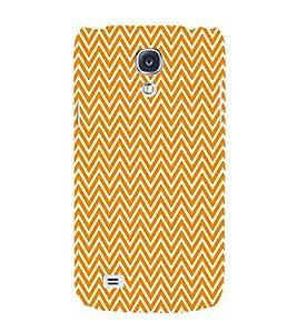 Lite Orange Chevron 3D Hard Polycarbonate Designer Back Case Cover for Samsung Galaxy S4