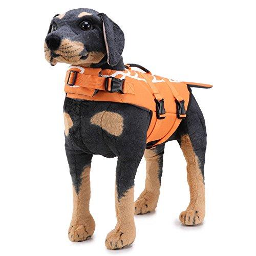 Swallowuk Unisex Haustier Sicherheit Weste Hund Schwimmweste Puppy Preserver Bademode Sicherheit Cothing (L, A) (Schwimmweste Hunde Haustier)