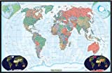 swiftmaps decoración de mundo laminado de pared Mapa Póster