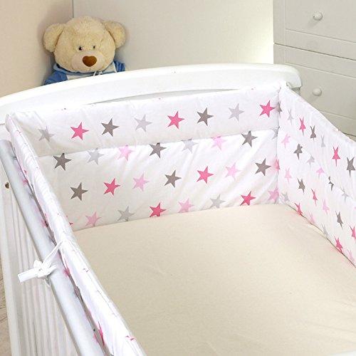 Nestchen mit Kopfschutz für 140x70 Bett 420x30cm M31 Bettumrandung Kantenschutz Baby Bett Schutz