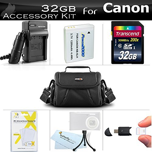 32GB Accessories Bundle Kit For Canon PowerShot SX170 IS SX520 HS SX530 HS SX540 HS Digital Camera Includes 32GB High Speed SD Memory Card + Replacement NB-6L Battery + AC/DC Charger + Case + More  available at amazon for Rs.6343