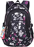 SellerFun Girl Women Flower Printed Waterproof Rucksack Backpack School Bag Bookbag