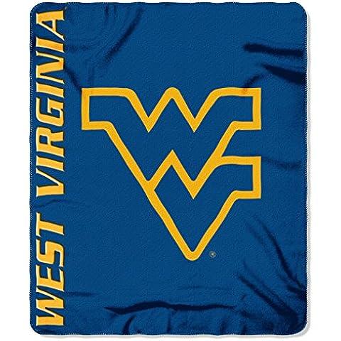 NCAA West Virginia Mountaineers Mark Printed Fleece Throw Blanket, 50