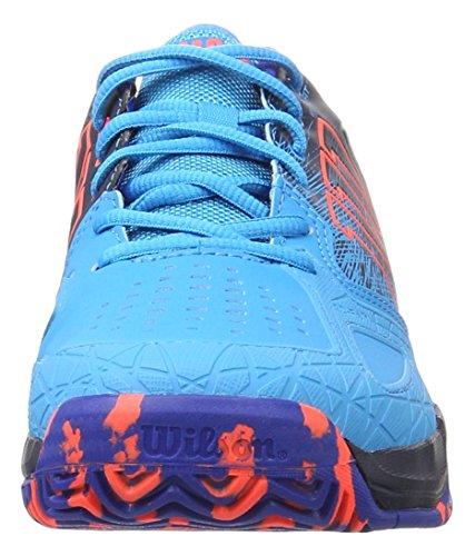 Wilson Kaos Comp Hawaiian Oforwardslashnavy Blaze/Fie, Chaussures de Tennis Homme Multicolore (Hawaiian Ocean/Navy Blazer/Fiery Co)