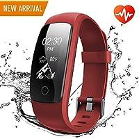 Fitness Armband, Runme Fitness Tracker mit Herzfrequenz und Schlafmonitor, Aktivitätstracker mit Schritt und Kalorienzähler, GPS Tracker, IP67 Wasserdichtes Sportband für Android/IOS Smartphone