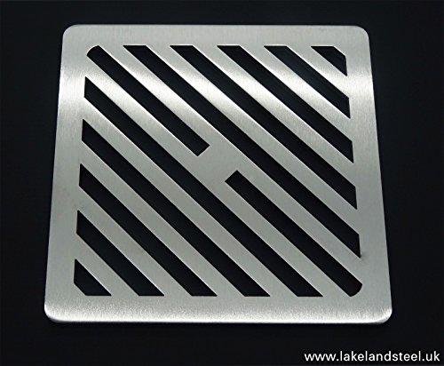 17,8cm Zoll quadratische Edelstahl massiv Metall Stahl Schlucht Grid Heavy Duty Abfluss Cover ROST wie Gusseisen, stärker