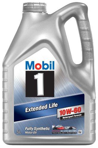 Mobil 1 151069 Huile moteur synthétique Extended Life 10W60 5 l pas cher
