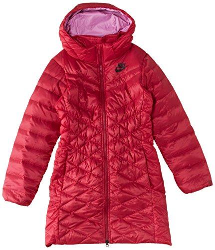 Nike Damen Parka Girl'550 Hoody Jacket Cascade Rosa - Noble Red/Light Magenta/Black/Black