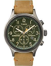 Timex Homme Chronographe Quartz Montre avec Bracelet en Cuir TW4B04400