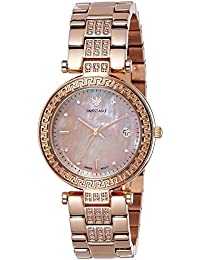 Swiss Eagle Analog Rose Gold Dial Women's Watch-SE-9094B-RG-08