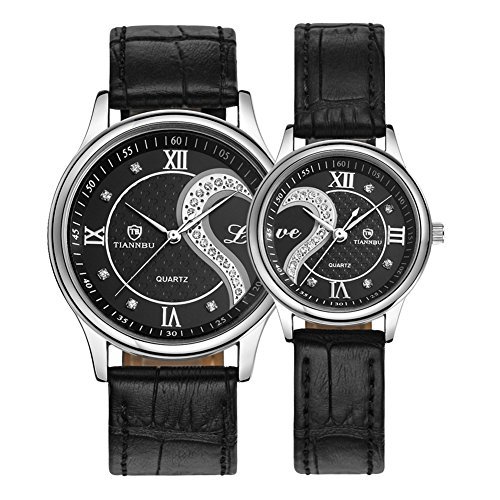 fq-102-ultrathin-leather-romantic-black-pair-fashion-wrist-watches-for-couple-men-womenset-of-2