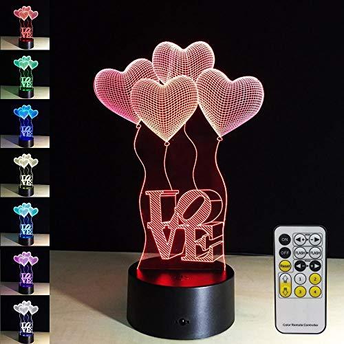 Luce notturna per bambini con telecomando LED touch 7 sostituzione lampada da tavolo phantom light per San Valentino