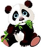8 x 7 cm - Kontur geschnitten - Autoaufkleber Panda Pandabär Bär Aufkleber Kinder Sticker Auto Motorrad outdoor wasserfest