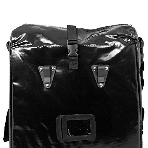 Fahrradtasche für den Gepäckträger aus LKW-Plane 2 Stück mit Farbauswahl weiß/schwarz