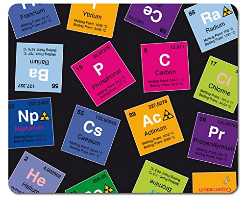 1art1 97686 Periodensystem Der Elemente - Kohlenstoff, Barium, Brom, Radium, In Englisch Mauspad 23 x 19 cm