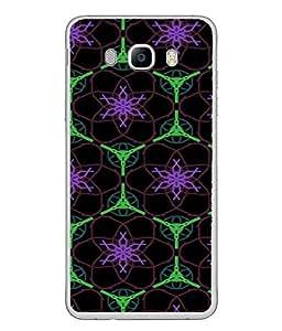 PrintVisa Designer Back Case Cover for Samsung Galaxy J5 (6) 2016 :: Samsung Galaxy J5 2016 J510F :: Samsung Galaxy J5 2016 J510Fn J510G J510Y J510M :: Samsung Galaxy J5 Duos 2016 (Texture Illustration Handmade Black Backcase Pouch )