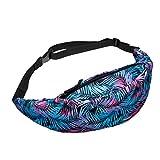 VJGOAL Damen Bauchtasche, Damen Herren Unisex Mode Leder Crossbody High-Capacity Schulter Brusttasche Geschenk (1PC, X-blau)