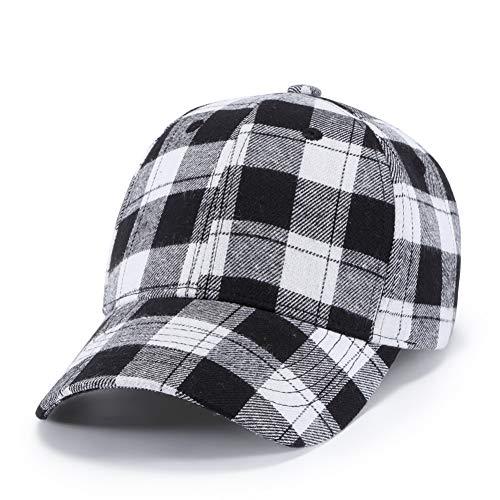 BQMO Unisex Schwarz Weiß Plaid Baseball Cap Trucker Mützen Hut Papa Hüte Für Männer Sommer Visier Caps Für Frauen Hip Hop Streetwear Plaid Trucker Hut