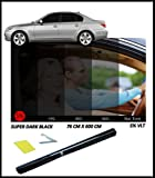 Best Window Tints - CAR WINDOW TINT FILM TINTING SUPER DARK BLACK Review