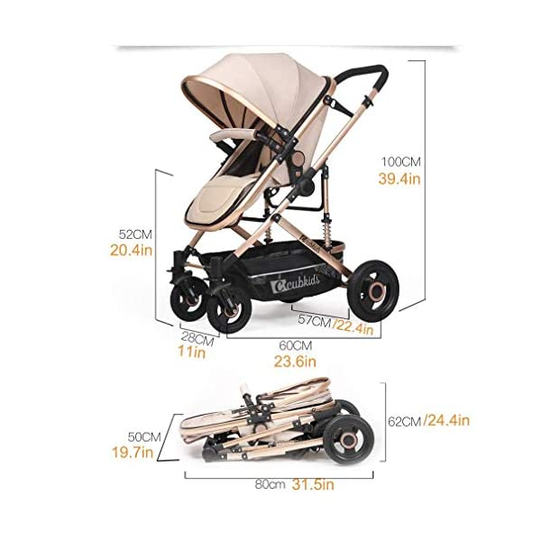 LjfRⓇ Hot Mom stroller travel system Detachable Twin Carriage, Shockproof, Foldable Pushchair with Adjustable Backrest, Lightweight Newborn Stroller, I LjfⓇ ★ TWIN STROLLER: Thanks to the Double Strollers, getting anywhere with two small children has never been easier. You can glide through the city, even if you have only one hand to steer; You can even roll through a standard sized door. ★ INDEPENDENT ROOM, INDEPENDENT ADJUSTMENT: The two seats can sit and lie separately. Two babies do not bother each other. The backrest can adapt to the sleeping position of the baby to sleep comfortably. ★ SAFETY WHEELS AND 5-POINT SAFETY BELTS: The springs in the front wheels absorb shocks to control direction and safety. The rear wheels have a linkage to brake with one step. The 5-point safety belt is fitted with each seat to ensure safety while your baby is fitted to the seat belt to feel comfortable. 5
