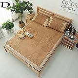 iiinsixes Colchoneta de verano estera de mimbre de bambú estera de la estera plegables dormitorio de la familia cama dormitorio de tres piezas, D, 180*200