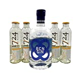 BCN Dry Gin 1x 0,7L (40% Vol.) & 8x 1724 Tonic Water 0,2L | Gin & Tonic Set …