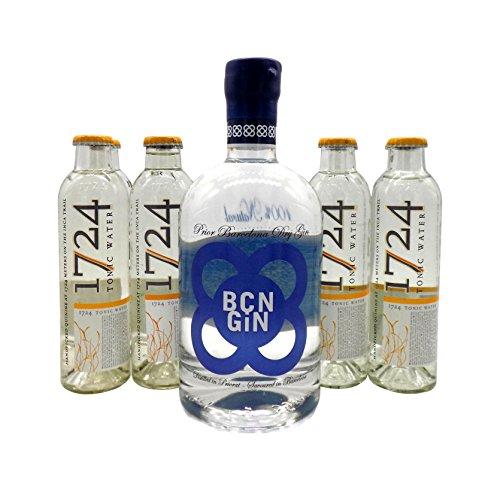 BCN Dry Gin 1x 0,7L (40% Vol.) & 8x 1724 Tonic Water 0,2L | Gin & Tonic Set …