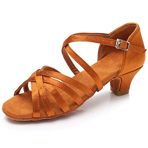 Hipposeus scarpe da ballo latino donna,it,marrone,eu 36