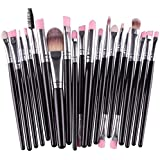 Sunward Makeup Brushes 20Pcs/Set Makeup Brush Set Tools Make-Up Toiletry Kit Wool Make Up Brush Set Black