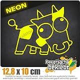 Drift Cow 14 x 11 cm IN 15 FARBEN - Neon + Chrom! Sticker Aufkleber