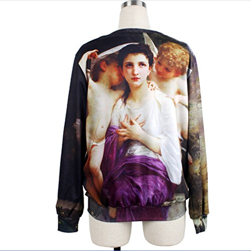 THENICE femmes Impression numérique pulls Sweatershirts T-Shirts - Venus Angel