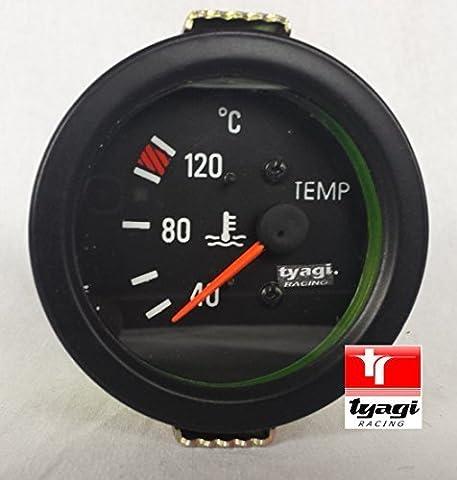 Water Temperature Gauge 40-120°C Electrical Black Dial 60mm Diameter 6-24V