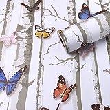 YUELA Pvc-gepolsterte Wand Aufkleber_Der Jsh wallpaper Europäische Kinder, PVC-Folie, selbstklebend Verdickung renovierung Aufkleber Wohnzimmer Schlafzimmer wasserdicht, schmetterling Farbe-10 m